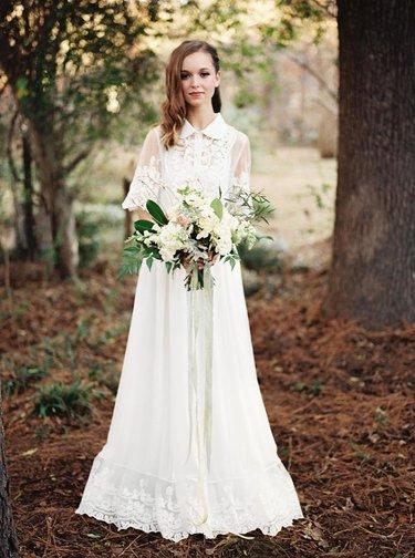 Кружевные свадебные платья (40 фото)