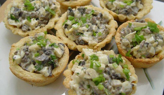 Грибной салат рецепт с фото