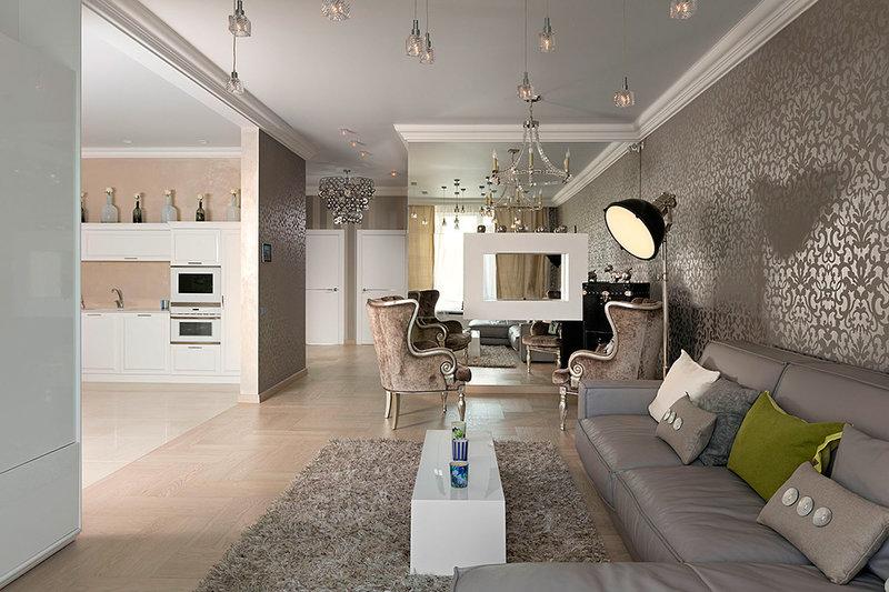 Современный дизайн квартиры-студии на 30 кв. м.
