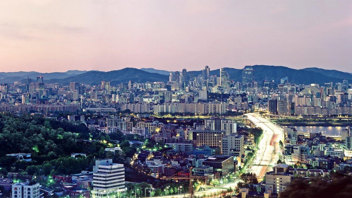"""""""Сеул, городской пейзаж, архитектура, город теги: высокое ..."""