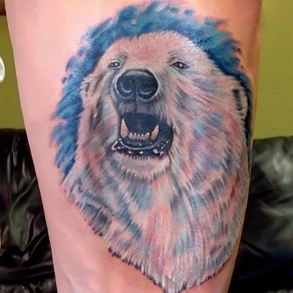 прекрасные картинки наколки с белым медведем становится органичным