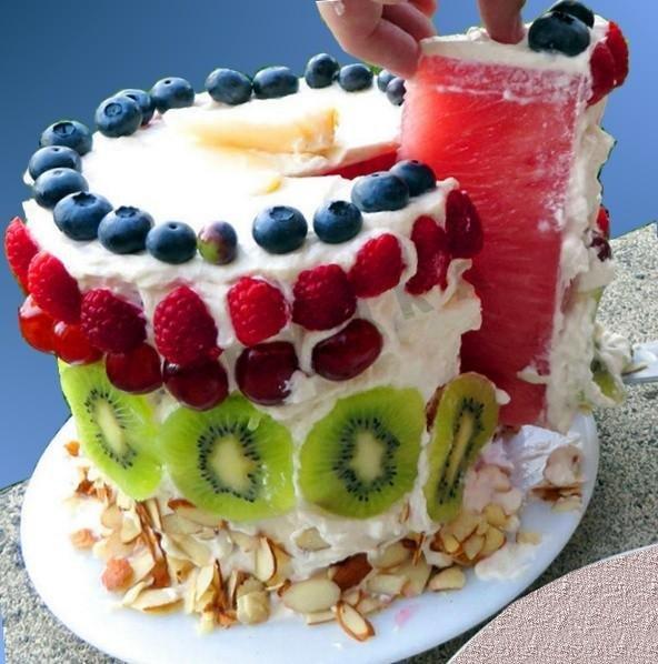 Кулинарный рецепт с фото арбузный торт