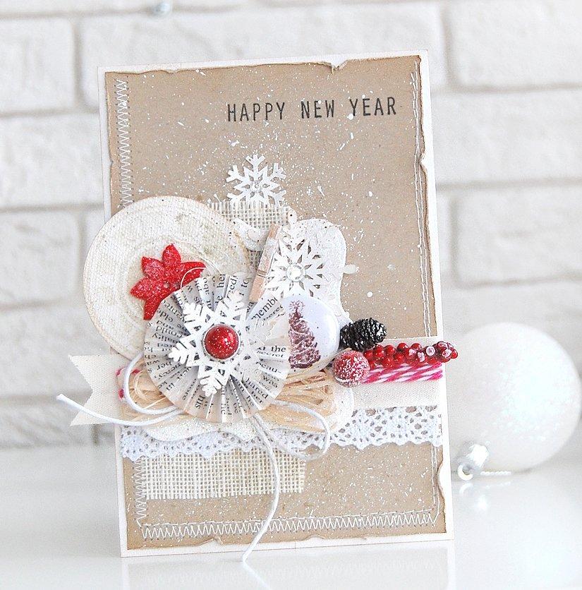 Скраб открытки на новый год
