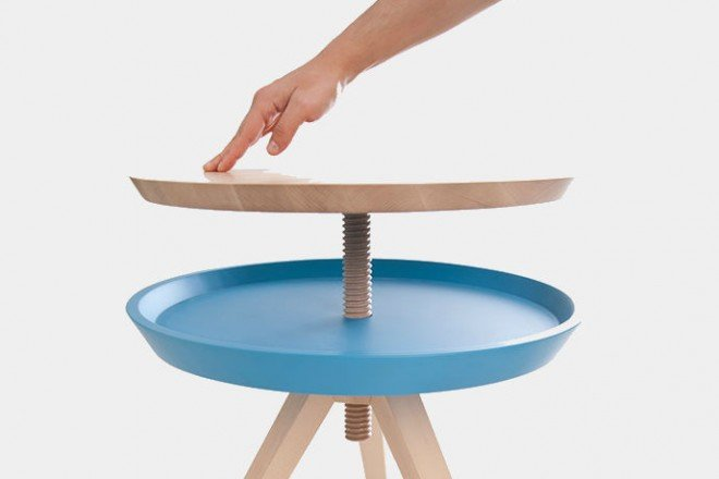 table stool with additional surface