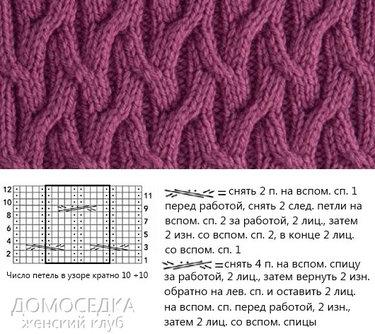 48 карточек в коллекции красивые узоры вязания спицами