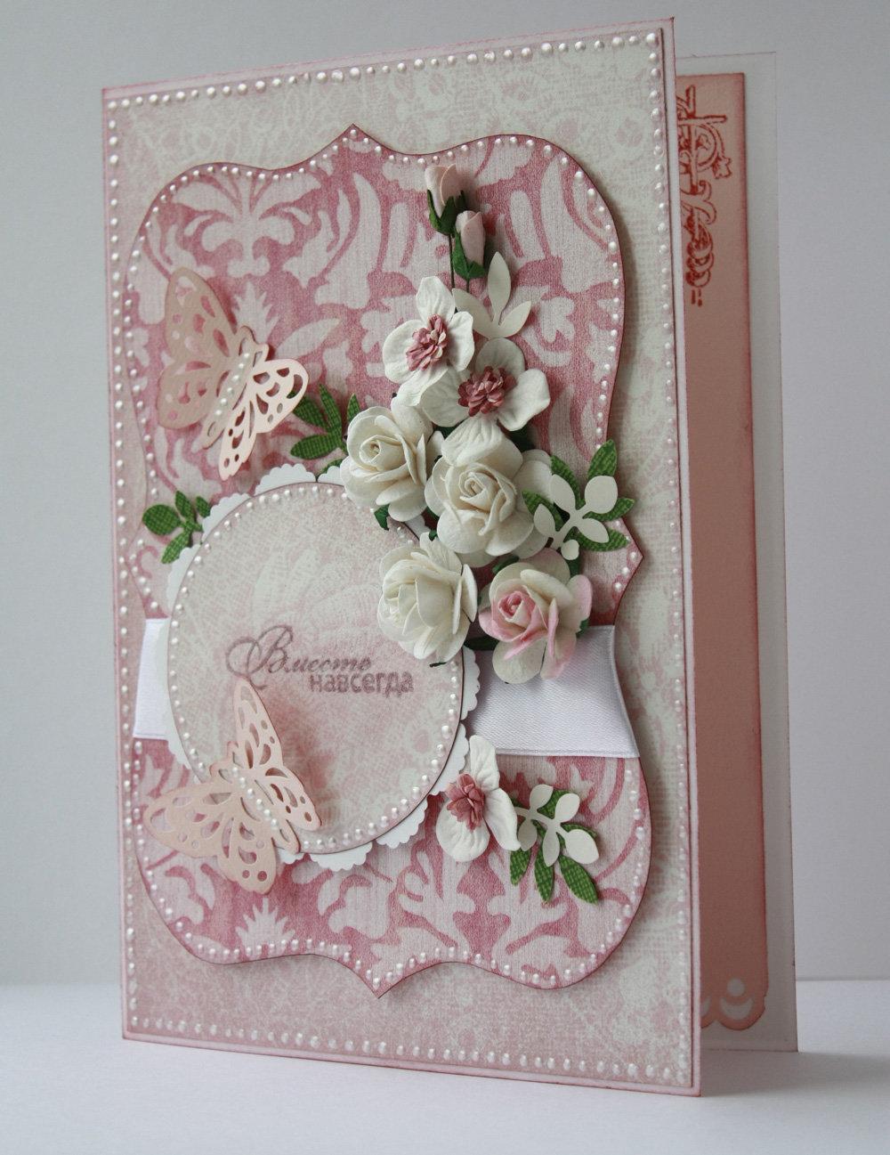 Идеи для милой открытки, цветы вазах открытка