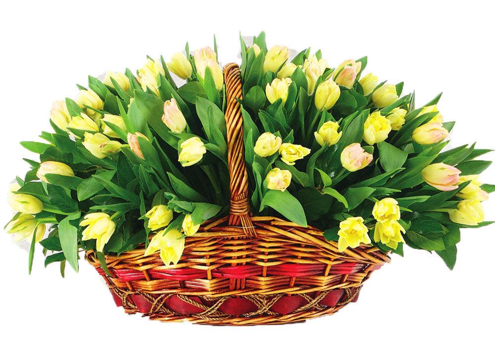 Открытка с большим букетом цветов 8 марта, добрым