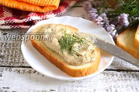 Паштет из шпрот и плавленного сыра