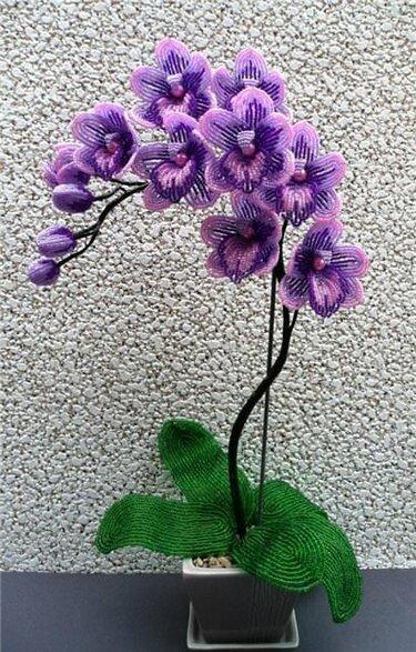 Орхидея из бисера схема плетения 11