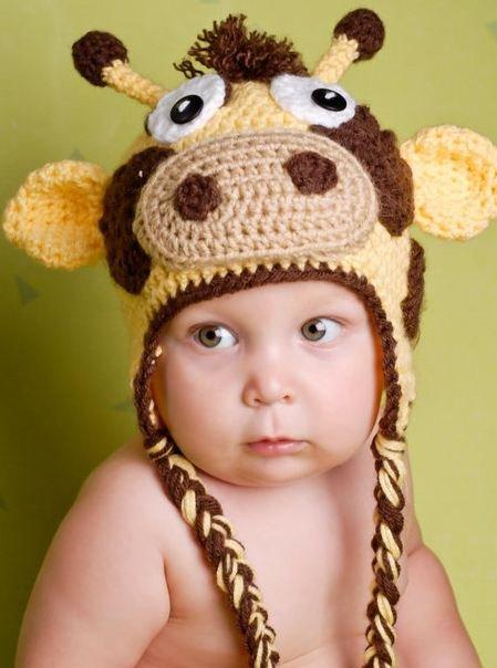 Шапочка-жираф с для малыша