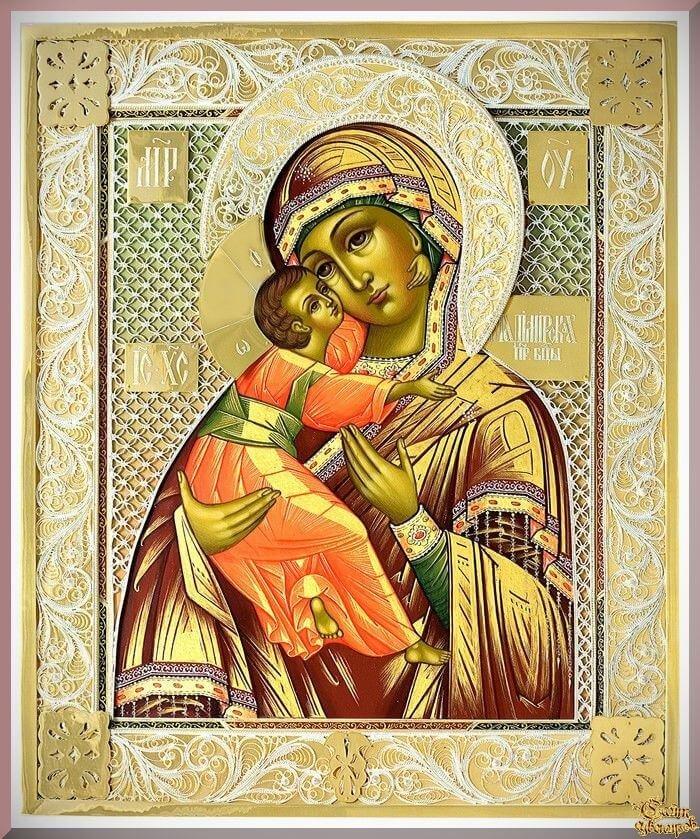 Владимирская икона божией матери картинка