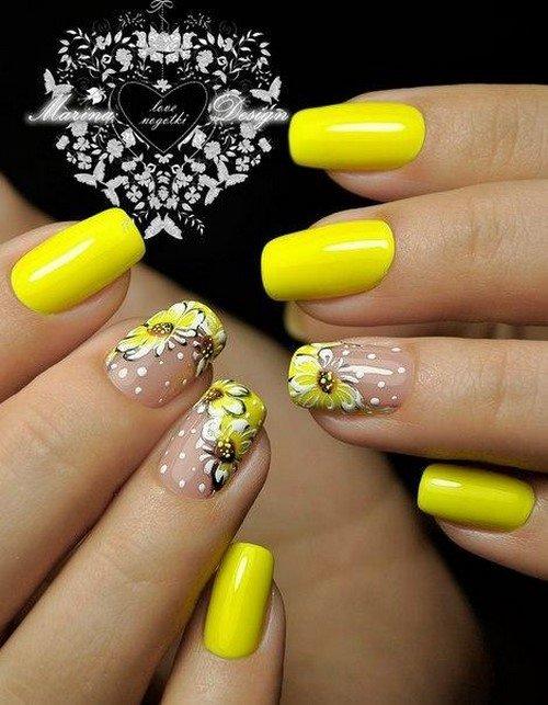 Дизайн ногтей яркие цвета фото