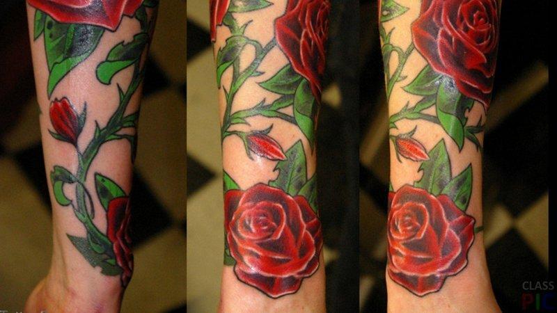 Татуировки на всей руке фото