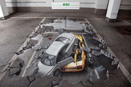 3D рисунок на парковке