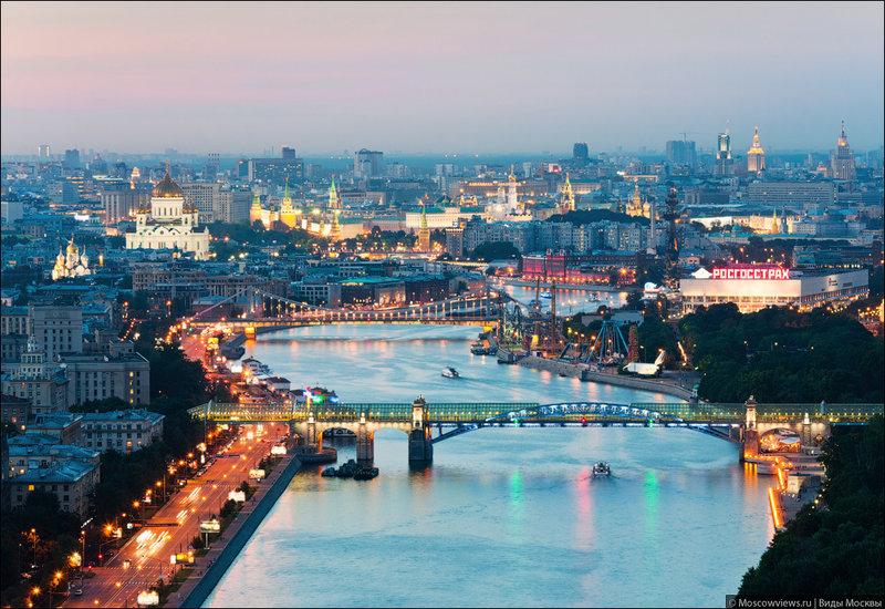 Андреевский и Крымский мосты