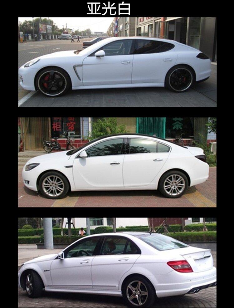 Белая матовая пленка. Одна из самых популярных пленок для автомобиля.