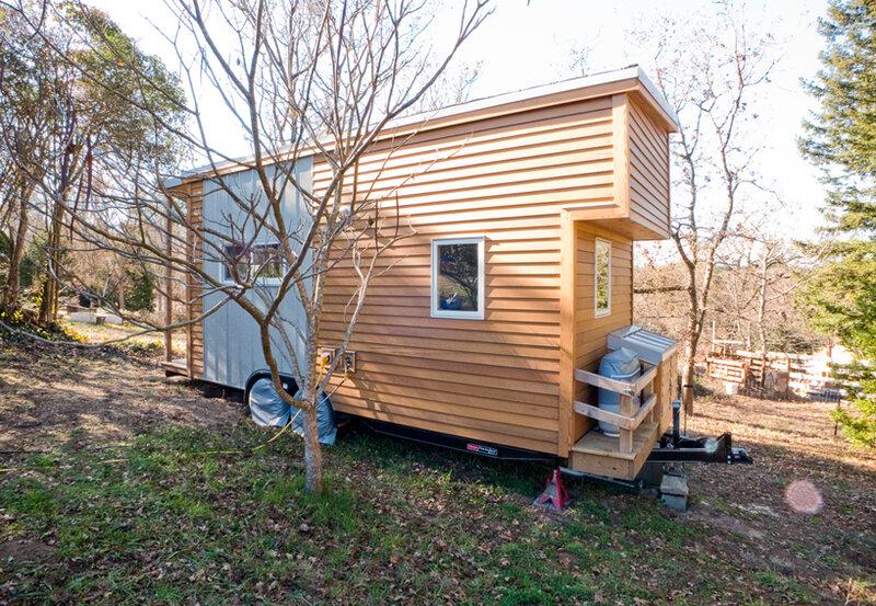 Деревянный дом на колесах - фото - Look at Home