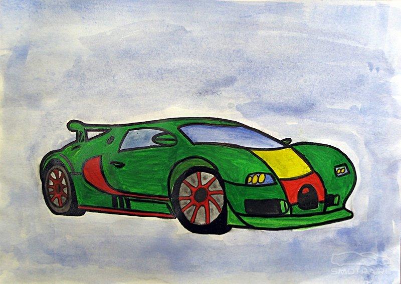 Детские рисунки автомобилей
