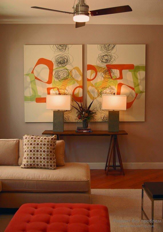 Дизайн помещения с картинами