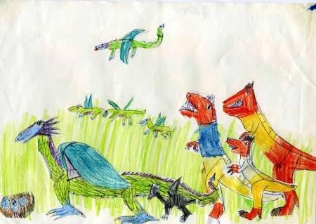 Две семьи динозавров