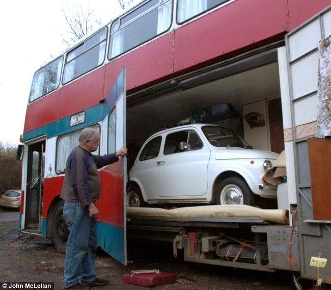 Двухэтажный автобус - дом на колесах » #НЕЧТО - Развлекательный блог. юмор, приколы, картинки, видео, игры.