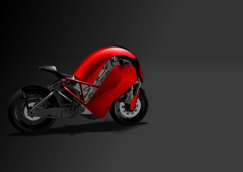 Электро мотоцикл будущего