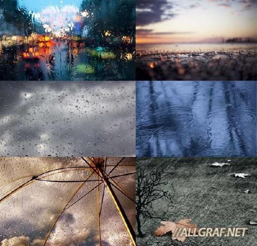 Фон на фото - Осенний дождь