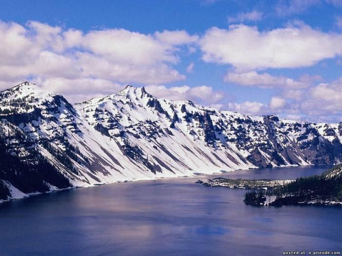 Фото горы зимой - Зима картинки - Фото мир природы