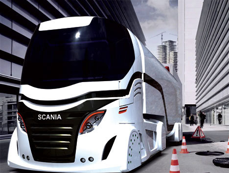 Футуристический концепт грузовика будущего от Scania