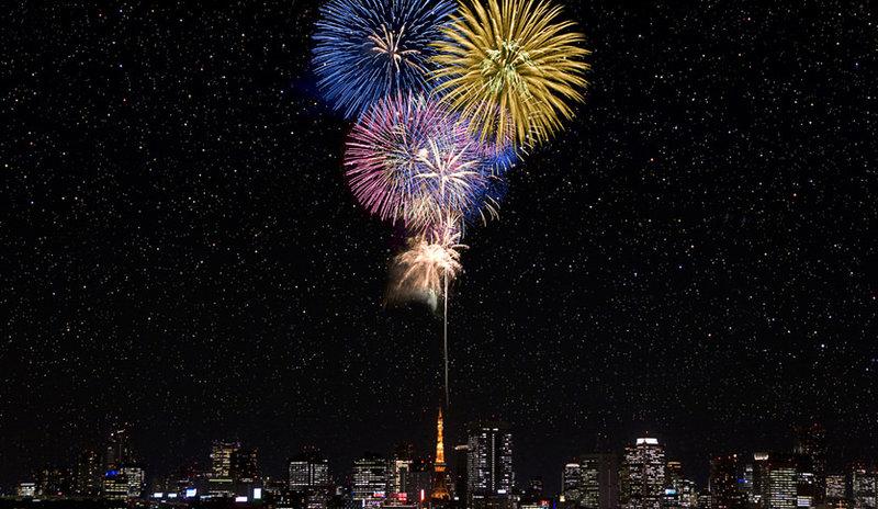 Япония звезды japan tokyo салют токио фейерверк