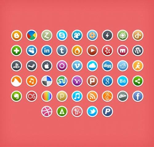 Иконки социальных сетей