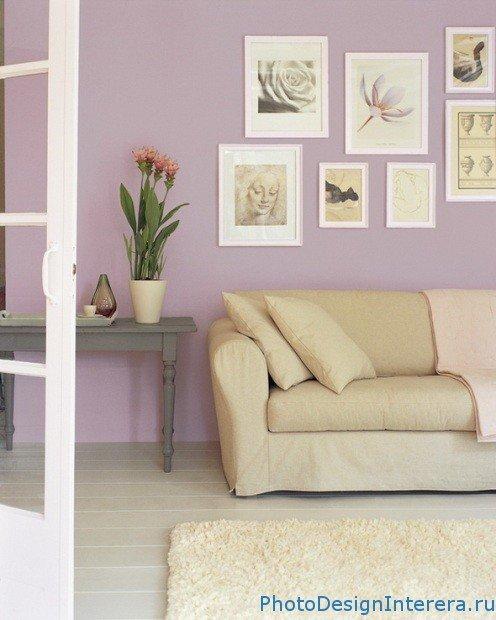 Как правильно украсить стены фото картинами в гостиной?