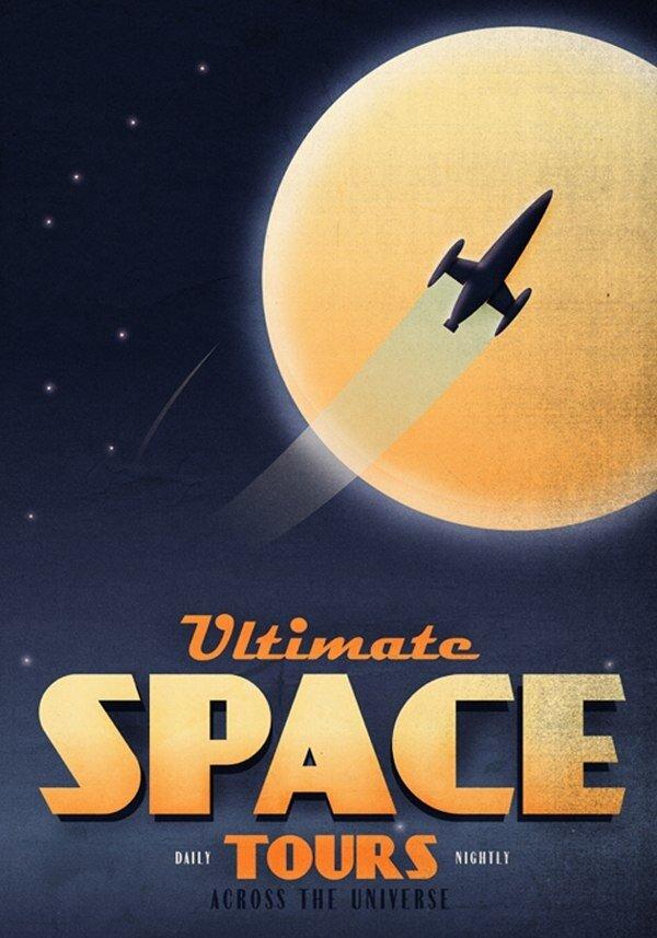 Космические постеры от Fabio Perez