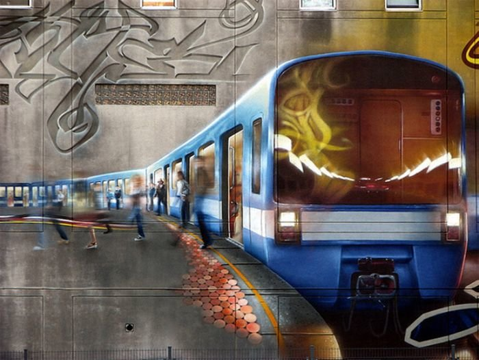 Красивейшие граффити (20 фото) » Триникси