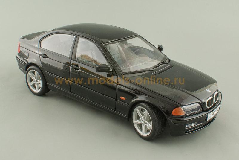 """Масштабная модель автомобиля """"BMW 328i (E46) - черный 1:18"""""""
