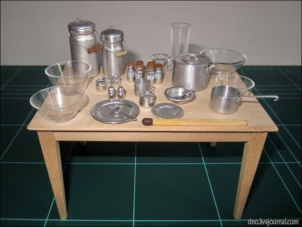 Миниатюрные предметы кухни