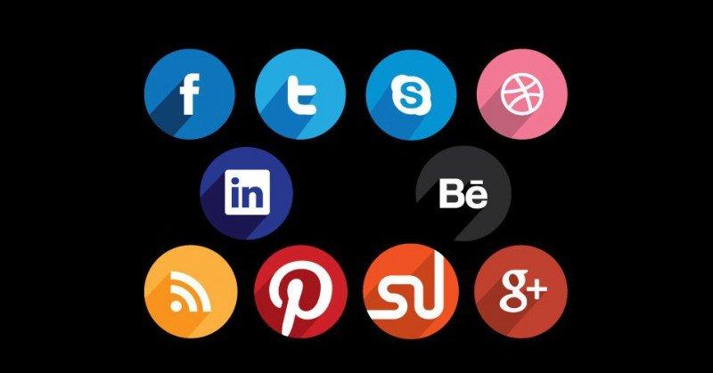 Много бесплатных иконок социальных сетей в стиле Flat | Beloweb.ru