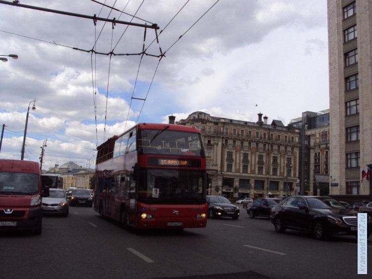 Москва. Двухэтажный автобус   ПО ГОРОДАМ И СТРАНАМ