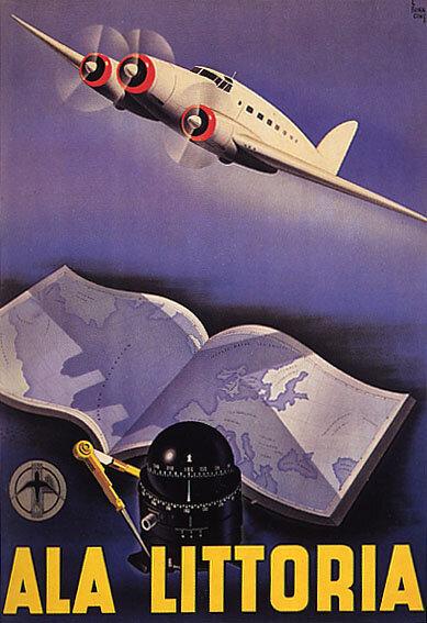 Начало эры воздушных путешествий на ретро-постерах