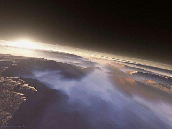 Невероятной красоты рассвет на Марсе (ФОТО)