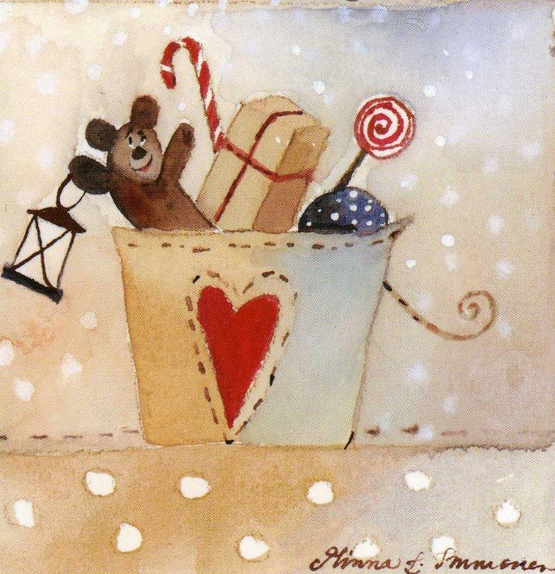 Новогодние рисунки акварелью для начинающих