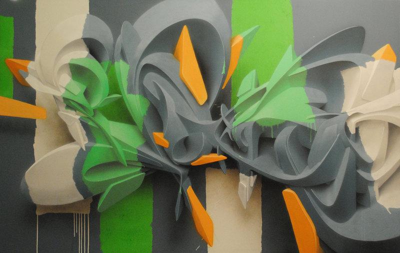 Объемные граффити от Peeta   Блог дизайнера