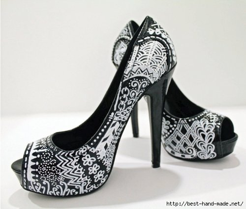 Обновить обувь. Роспись на обуви. Рисунки для обуви