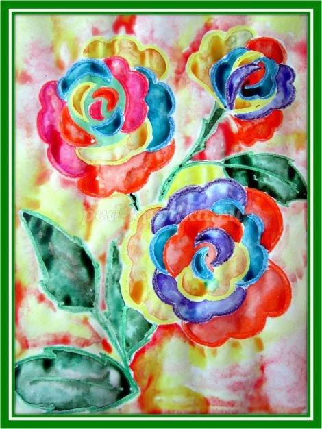 Рисование цветов акварелью в начальной школе