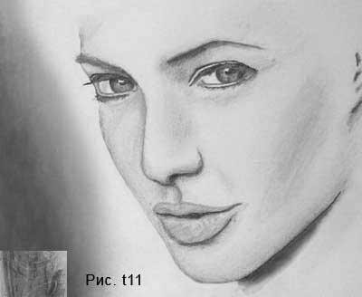 Рисуем тени на портрете