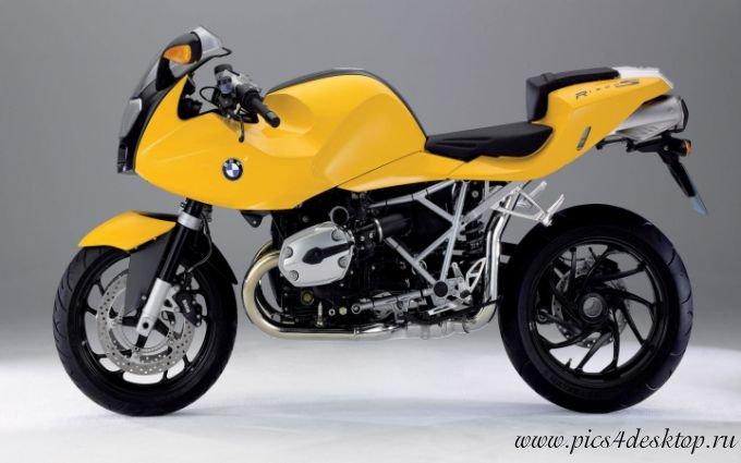 Скачать желтый BMW R1200S фото