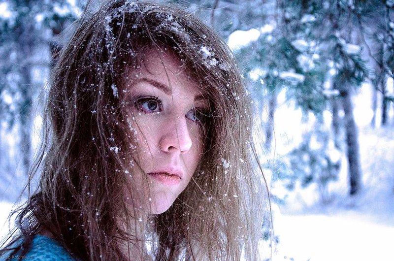 Снежный портрет