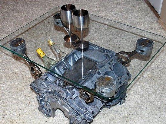 Столик из двигателя своими руками