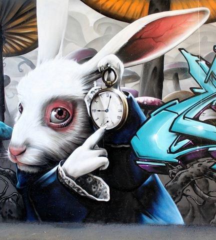Стрит-арт искусство.  Smug One. Работа граффити первая