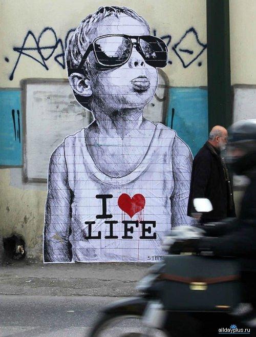 [суб]культура. Граффити. Лучшие. Новые. Креативные. Нестандартные. 21 граффити-фото.